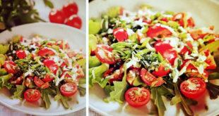 salat s parmezanom ta pomedorami scherri