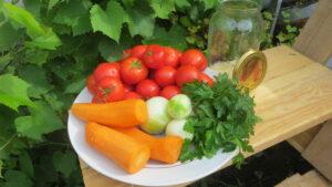 Солодкі мариновані помідори на зиму, інгредієнти